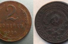 Монеты 1924 года и их цена. Редкие разновидности и их стоимость.